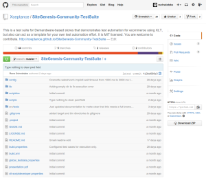 The community test suite at GitHub