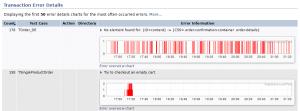 XLT 4.7 Error Charts